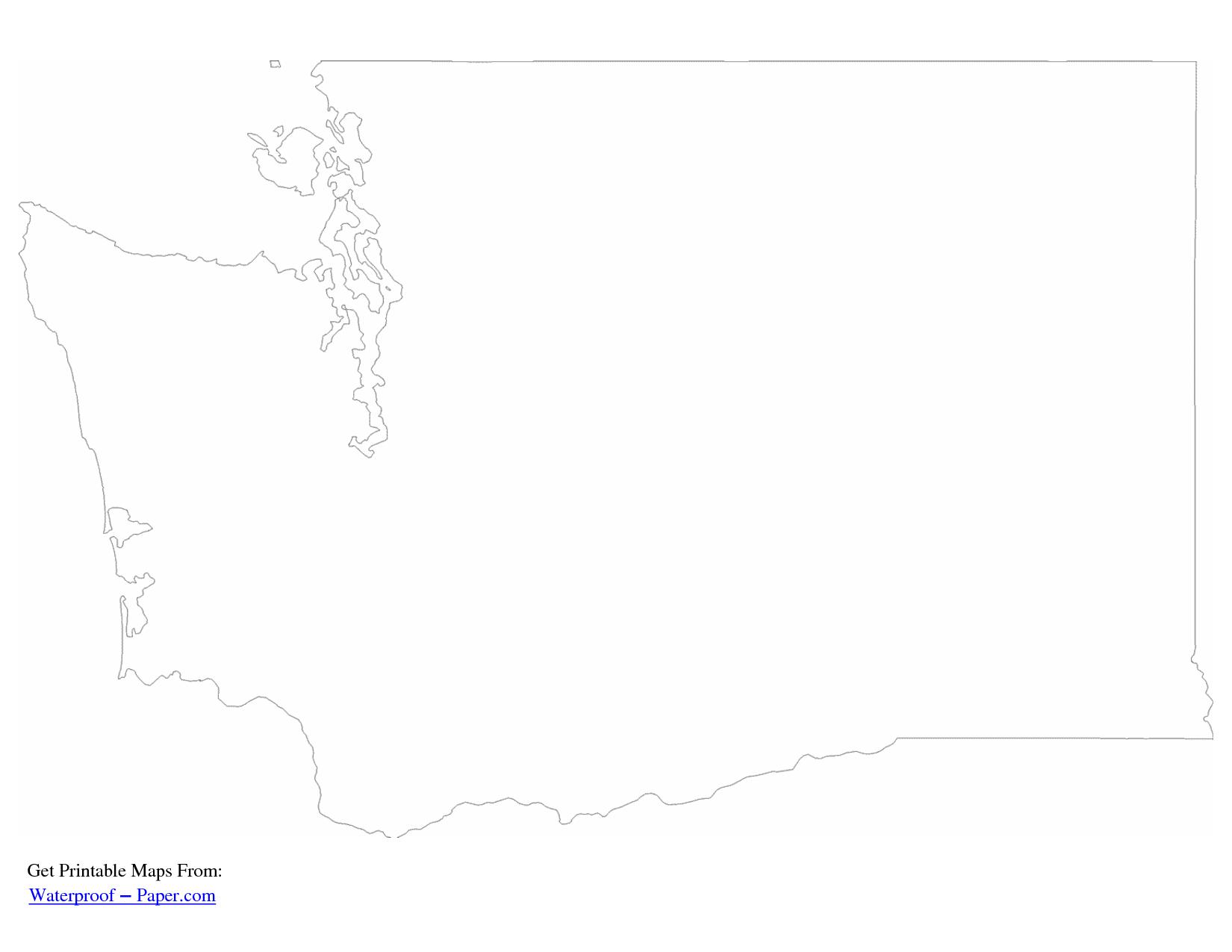 geography blog washington outline maps